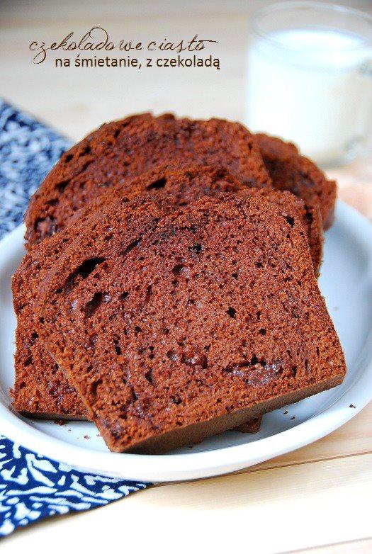 ciasto czekoladowe na śmietanie z czekoladą4