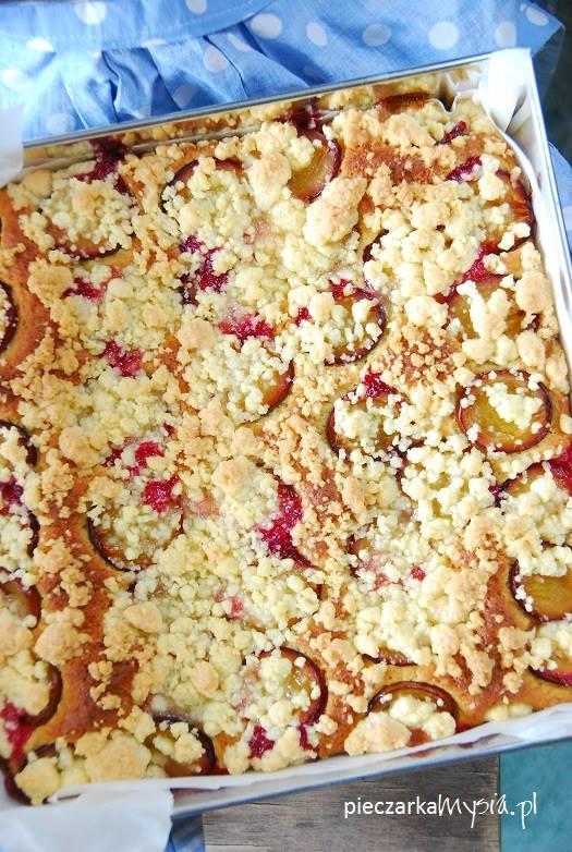 Ciasto drożdżowe ze śliwkami i kruszonką5