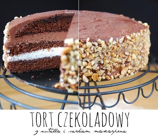 tort czekoladowy z nutella i mascarpone6