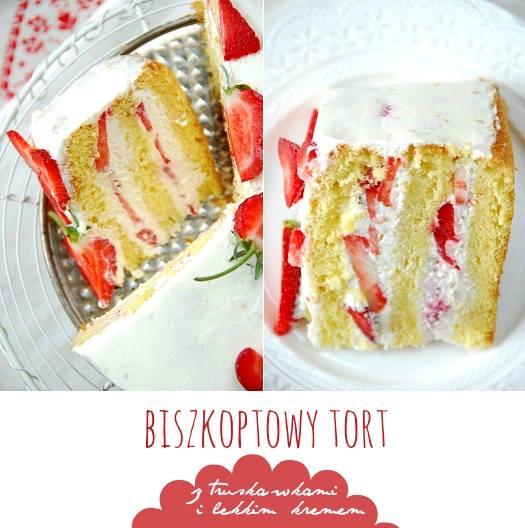 tort z truskawkami biszkopt1